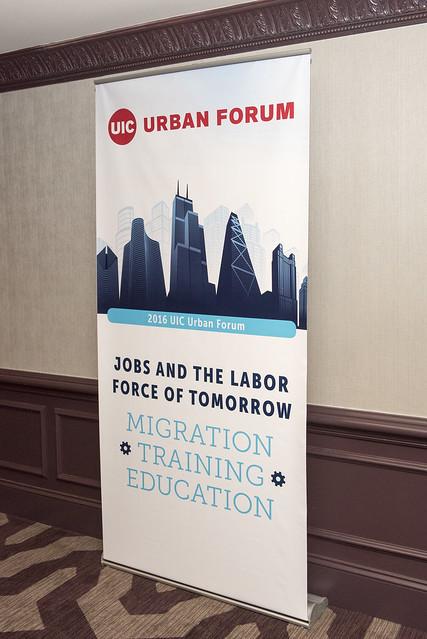 urban forum sign